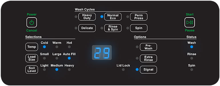 AWNE8 Top load washer